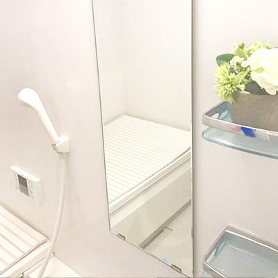 浴室鏡水垢防止コーティング